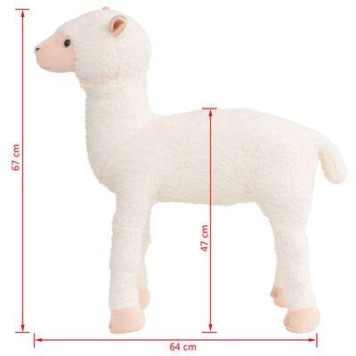 vidaXL Speelgoedalpaca staand XXL pluche wit