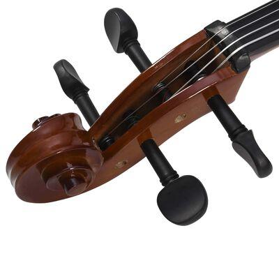 vidaXL Celloset met tas en haren strijkstok 4/4 donkerhoutkleurig