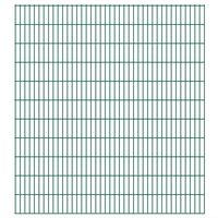 vidaXL Dubbelstaafmatten 2,008x2,23 m 46 m (totale lengte) groen