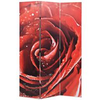 vidaXL Kamerscherm inklapbaar roos 120x170 cm rood