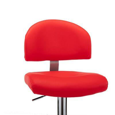 vidaXL Barkrukken 2 st kunstleer rood , Rood