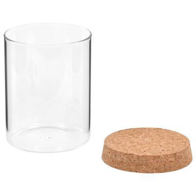 vidaXL Opbergpotten met kurken deksel 6 st 650 ml glas