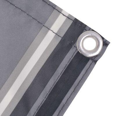 vidaXL Balkonscherm 75x600 cm oxford stof streep grijs