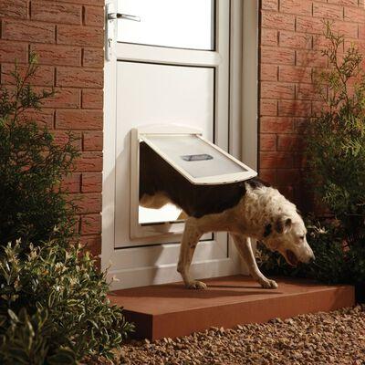 PetSafe Huisdierenluik in 2 richtingen 760 large 35,6 x 30,5 cm wit 5023