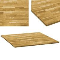 vidaXL Tafelblad vierkant 23 mm 80x80 cm massief eikenhout