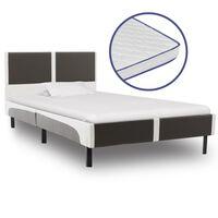 vidaXL Bed met traagschuim matras kunstleer 90x200 cm