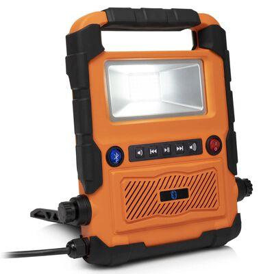Smartwares Werklamp LED Bluetooth luidspreker 27x30x6 cm oranje