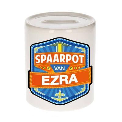 Kinder spaarpot voor Ezra - keramiek - naam spaarpotten