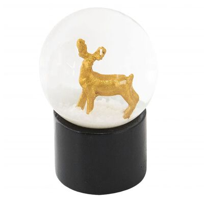 Sneeuwbol   Ø 5*6 cm   Goudkleurig   Polyresin / glas   rond   ree  
