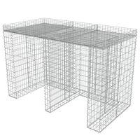 vidaXL Schanskorfmuur container 190x100x130 cm gegalvaniseerd staal