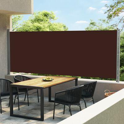 vidaXL Tuinscherm uittrekbaar 600x170 cm bruin