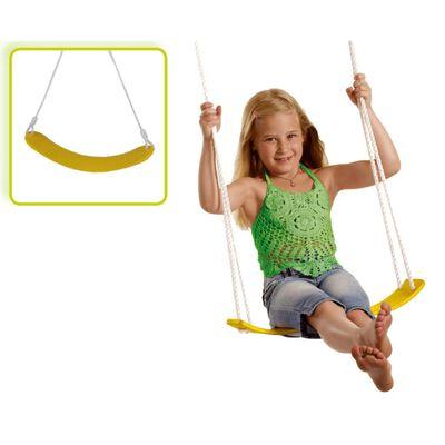 Gele flexibele schommel / kinderschommel zitje - 67 cm -