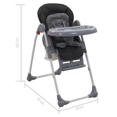 vidaXL Kinderstoel hoog grijs