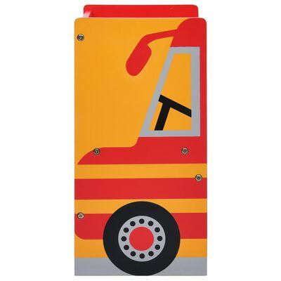 vidaXL 3-delige Kinderstoelen- en tafelset brandweerwagenontwerp hout