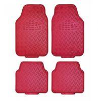 automattenset Alu-look universeel PVC rood 4-delig