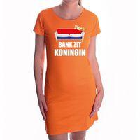 Bank zit koningin oranje jurk voor dames - Koningsdag / Woningsdag -