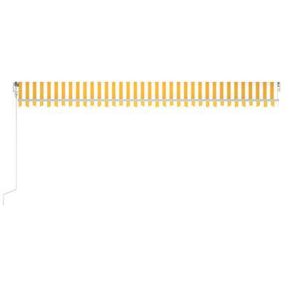 vidaXL Luifel automatisch uittrekbaar 600x350 cm geel en wit