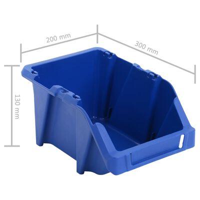 vidaXL Opbergbakken stapelbaar 200x300x130 mm blauw 50 st