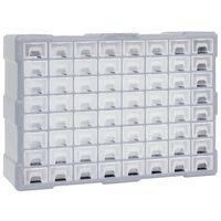 vidaXL Organiser met 64 lades 52x16x37,5 cm