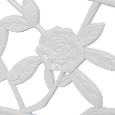 vidaXL Tuinbank 100 cm gietaluminium wit