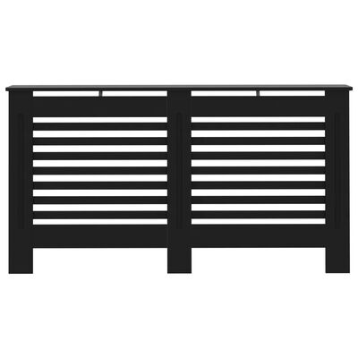 vidaXL Radiatorombouw 152x19x81 cm MDF zwart