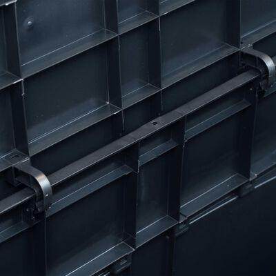 vidaXL Opbergkist 320 L zwart