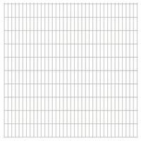 vidaXL Dubbelstaafmatten 2,008x2,03 m 36 m (totale lengte) zilverkleur