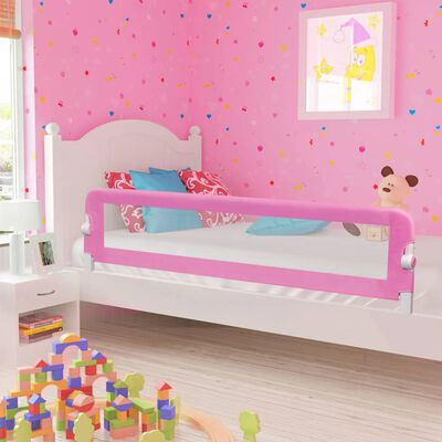 vidaXL Bedhekje peuter 180x42 cm polyester roze