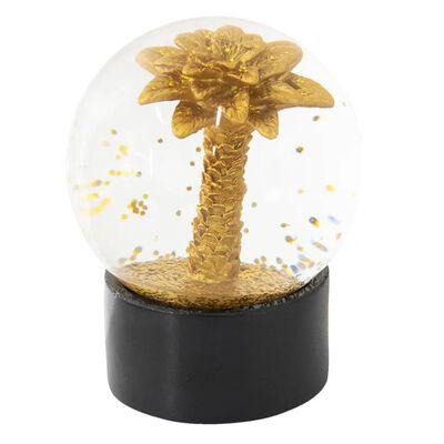 Sneeuwbol | Ø 8*11 cm | Goudkleurig | Polyresin / glas | rond | palm |