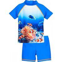 zwemset Koraal UV-werend blauw 2-delig