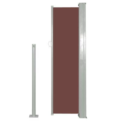 vidaXL Windscherm uittrekbaar 120x300 cm bruin