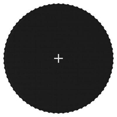 vidaXL Springmat voor 13 feet/3,96 m ronde trampoline stof zwart