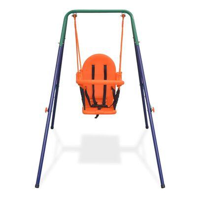 vidaXL Peuterschommelset met veiligheidsharnas oranje