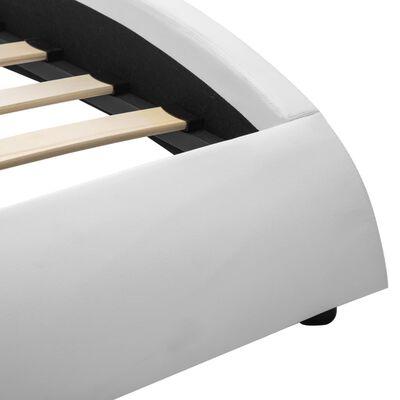 vidaXL Bedframe met LED kunstleer wit 140x200 cm