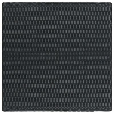 vidaXL Tuinbartafel 60,5x60,5x110,5 cm poly rattan zwart
