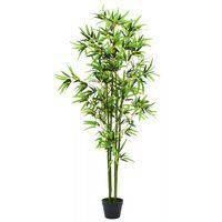 vidaXL Kunstplant met pot bamboe 175 cm groen