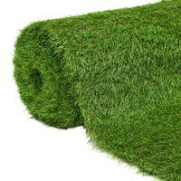 vidaXL Kunstgras 1,33x5 m/40 mm groen