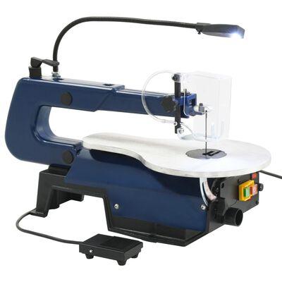 vidaXL Figuurzaagmachine elektrisch met voetpedaal en LED-lampje 125 W