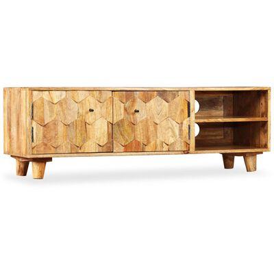 vidaXL Tv-meubel 118x35x40 cm massief mangohout