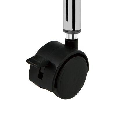 vidaXL Opbergtrolley met 15 lades mobiel XXL kunststof zwart