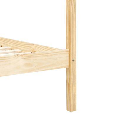vidaXL Hemelbedframe massief grenenhout 90x200 cm