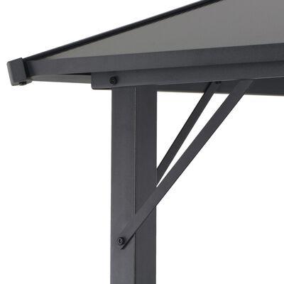 vidaXL Tuinpaviljoen met dak 3x3 m aluminium zwart