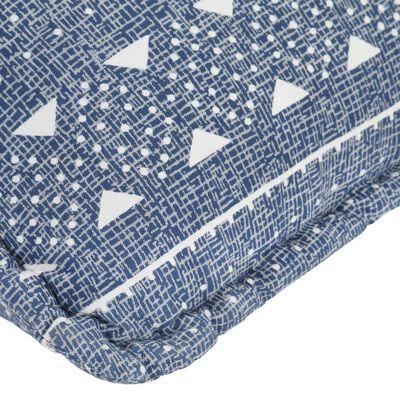 vidaXL Zitzak stof patchwork indigo