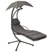 vidaXL Tuinschommelstoel 190x90x200 cm stof grijs
