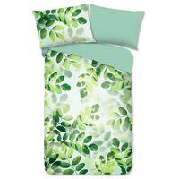 Good Morning Dekbedovertrek SUNNY LEAVES 155x220 cm groen