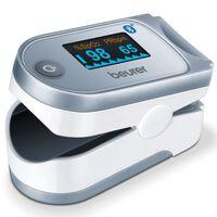 Beurer Pulsoximeter Bluetooth PO 60 wit en grijs