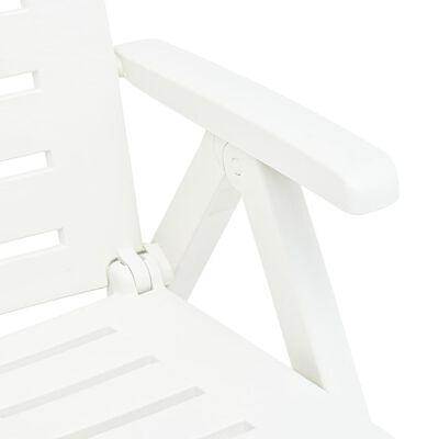 vidaXL Ligbed inklapbaar kunststof wit