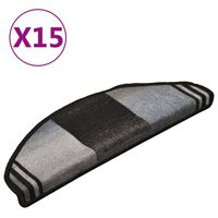 vidaXL Trapmatten zelfklevend 15 st 65x21x4 cm zwart en grijs