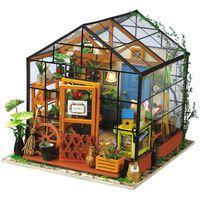 Robotime Miniatuur knutselset Cathy's Flower House met LED-verlichting