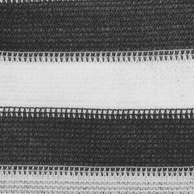 vidaXL Tenttapijt 250x200 cm antracietkleurig en wit
